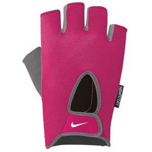 Nike Womens Fundamental Fitness Handschuhe 687 vivid pink/cool grey/white S
