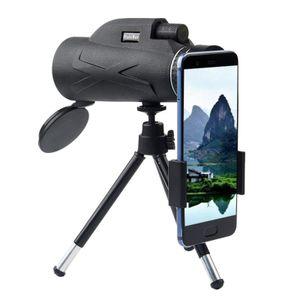 80x100 HD Monokular Starscope Telefon Kamera Zoomlinse + Stativ Tasche Telefon Teleskop