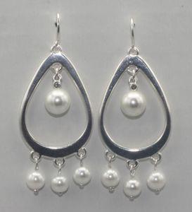 Pilgrim Damen Ohrringe Ohrhänger Metall Silber 261436033