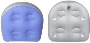 Spa und Whirlpool Sitzerhöhung mit Saugnäpfen, Aufblasbare Massagematte wasserdichte Massage Matte, Rücken Spa Kissen Massage Matte Weiche Aufblasbare Sitzerhöhung( blau,47 * 37 * 15 cm)