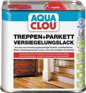 Treppen- Parkettversiegelungslack 2,5 l L10 AQUA CLOU farblos seidenglänzend