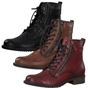 Tamaris Damen Stiefeletten Boots Leder 1-25211-25, Größe:40 EU, Farbe:Braun