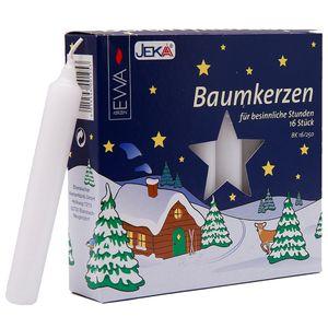Baumkerzen 16er weiß Stück  ca. 14 x 110 mm  deutsche Qualität Baum Kerze