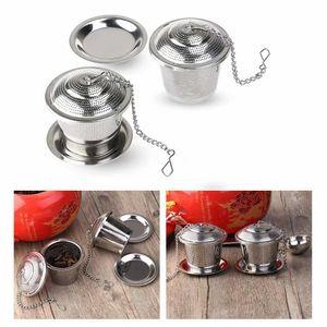 Tee-ei Sieb Tee Rostfreier Stahl (2 Stück) mit Auffangwannen