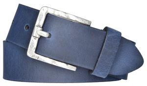 Damen Leder Gürtel Belt Ledergürtel Rindleder used blau 40 mm Damengürtel 80