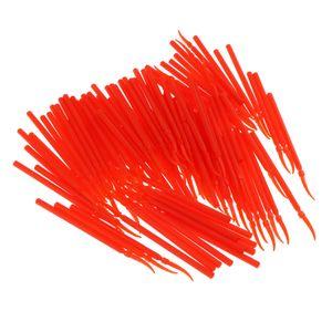 100x zahnärztliche versorgung langen griff poly kunststoff keile interdental orange l wie beschrieben