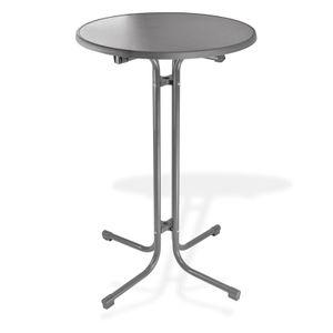 Stehtisch Bistrotisch Klapptisch Tisch 'Treviso' rund Ø 70 cm klappbar anthrazit