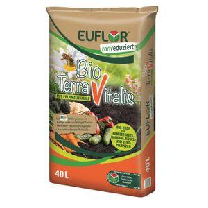 EUFLORTerraVitalis Bioerde Gemüseerde Pflanzenerde Blumenerde, 40 Liter