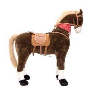 """Pink Papaya Giant XXL Riesenpferd """"Max"""" 125 cm Stehpferd bis 100 kg belastbar Super Plüsch Reitpferd mit Sound"""