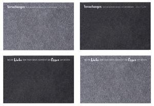 4 Stück Platzsets aus Filz mit Spruch Tischsets 45 x 30 cm