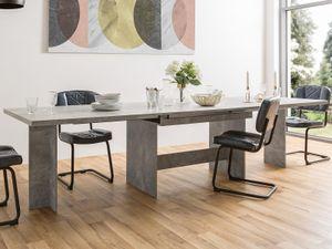 """Esszimmertisch Küchentisch Auszugtisch Esstisch Holztisch Tisch """"Aldershot I"""" Strukturbeton"""