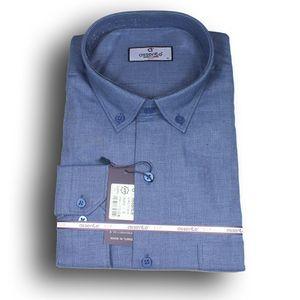 Herren Klassik-Hemd Business Bügelleicht Freizeit-Hochzeit-Feier  520 Größe L Farbe Dunkle Blau