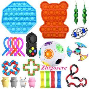 24 Stück / Set POP IT! Sensorische Fidget Toy zum Stressabbau Anti-Angst Dekompression Spielzeug Set