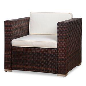 SVITA Rattan-Sessel braun für Lugano/ California