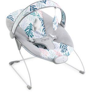 MOMI TULI Babywippe für Babys bis 9 kg, weiche Polsterung, Metallrahmen, Antirutsch-Füßchen, Haltegurt   Gewicht 1,7 kg, Abmessungen 58 x 49 x 53 cm   Sensorisches Modul für kreative Kinderförderung