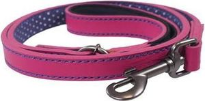 hundeleine 100 cm Leder rosa/violett
