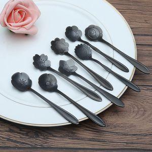 8 Stück Kaffee Teelöffel Farbe Schwarz