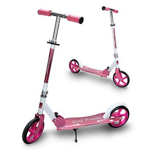 karpal Kinderscooter ab 5 Jahre, Kinderroller 205mm Kick Scooter, klappbar Kinderroller mit 2 Radern Hoehenverstellbar Sichere Premium Kinder Roller (Rosa)¡