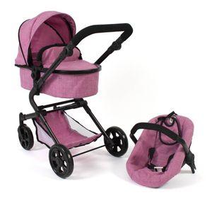 """Kombi-Puppenwagen """"Lia"""" Jeans pink"""