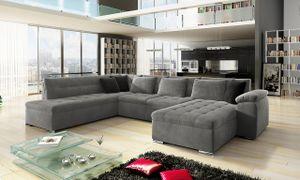 Mirjan24 Ecksofa Niko Bis, Bettkasten und Schlaffunktion, Sofa vom Hersteller, Polstergarnitur (Manila 16 + Manila 16 + Manila 18, Seite: Rechts)
