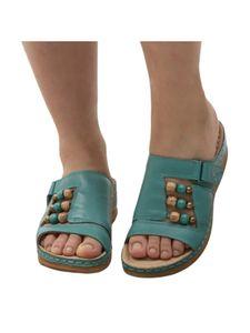 Abtel Damen Sandalen Wedge High Heels Hausschuhe,Farbe:Wathet,Größe:38