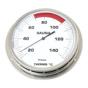 Sauna-Thermometer mit Flansch 130 mm -Klassik-