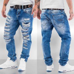 Cipo & Baxx Männer Straight Fit Jeans Destroyed in blau Cipo & Baxx