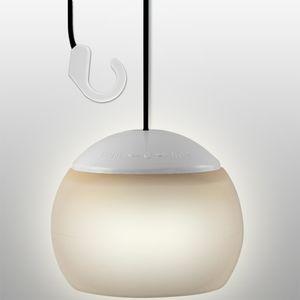 LED Hängeleuchte, 4x LED, Silikon-Schirm, Batteriebetrieb