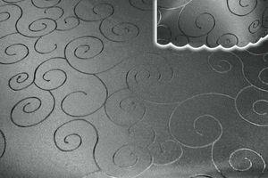 Tischdecke grau 130x220 cm eckig damast Ornamente bügelfrei fleckenabweisend