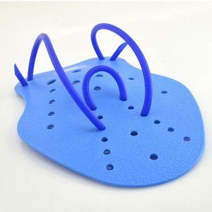 1 Paar Kinder Erwachsene Schwimmen Hand Paddles Flossen Power Training Handschuhe blau m