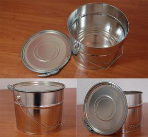Weißblecheimer 6 Liter inkl. Deckel mit Spannring