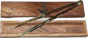 Marinezirkel, Einhand-Zirkel, Kartenzirkel, Stechzirkel in maritimer Holzbox
