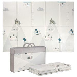 ONVAYA® Spielmatte für Babys & Kinder | Krabbelmatte faltbar | Bodenmatte für Kinderzimmer & Outdoor | Babymatte aus Schaumstoff | 180 x 200 cm | Spielteppich abwaschbar | rutschfest | schadstofffrei