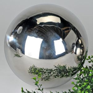 Dekokugel aus Edelstahl glänzend 12 cm