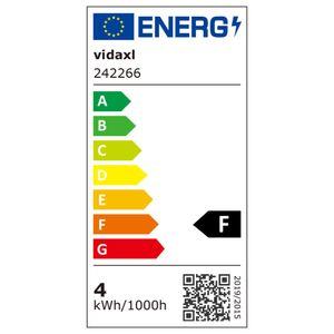 vidaXL Deckenstrahler Industrie-Stil Drahtgestell + 2 LED-Glühlampen schwarz