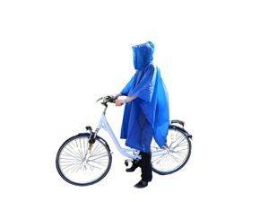 2x Regencape Regenponcho Regenjacke Regenschutz Regen Schutz Fahrrad blau uni