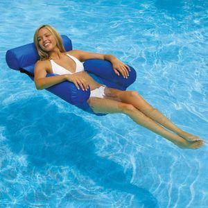 Aufblasbares Schwimmbett, Wasserhängematte 4-in-1 Lounge Sessel Pool Lounge luftmatratze Pool aufblasbare hängematte