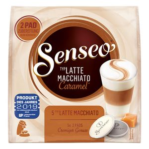 Senseo Latte Macchiato Caramel, 10 Pads für 5 Portionen, Kaffeekapseln