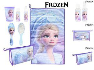 Kulturbeutel für die Schule Frozen Eiskönigin 6 teilig Blau Lila Disney