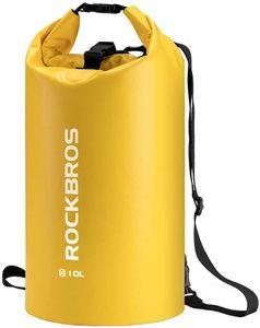 ROCKBROS Dry Bag Wasserdicht Packsack Gelb 30L für Wassersport, Strand