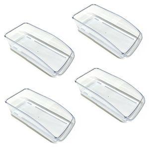 4er Set Kühlschrank Korb Transparent |  Gemüseschale Für Kühlschrank | Kühlschrankkorb Gemüse | Gefrierschrank Schubladenkorb