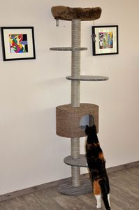 nanook Wand-Kratzbaum Kamala - 45 x 35 x 224 cm - braun