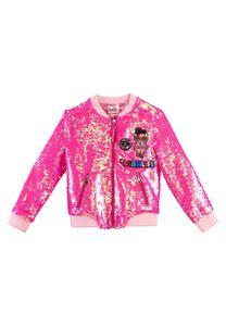 L.O.L. Surprise! LOL Kinder Mädchen Jacke Übergangsjacke Paillettenjacke Pailletten besetzt, Größe:134-140