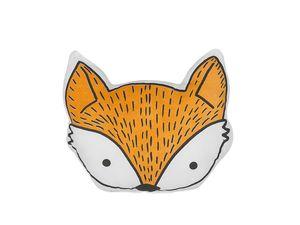 Dekokissen Orange Baumwolle Fuchsmotiv 50 x 40 cm Wohnzimmer Kinderzimmer