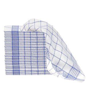 10er Set Baumwoll Geschirrtücher 45x70 cm Farbwahl, Farbauswahl:Blau