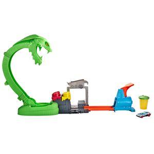 Hot Wheels City Kobra Schleim – Attacke Spielset inkl. 1 Spielzeugauto