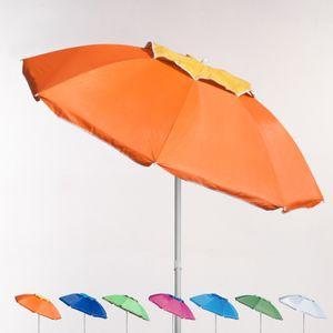 Strandschirm Sonnenschirm 180 cm Alu Windfest uv Schutz CorsicaFarbe: Orange, Durchmesser: 180, Rohr: Aluminium, Stoff: UV Protect, Höhe (cm): 140-187cm zirka, Gewicht: 1,5kg, Zusammensetzung: UV-geschützter Stoff, Modelle: CORSICA, Eigenschaften: Anti-UVA-UVB schutz, Kreuzung, Winddichte Bälge, Verstellbare Höhe, Zertifikation: UPF 158, Durchmesser (cm): 180, Durchmesser (mm): 22, Sonnenschirmgröße: 180