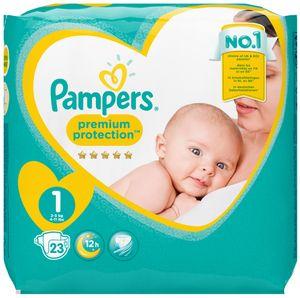 Pampers Windeln Premium Protection Größe 1 Newborn für Babys von 2 - 5 kg 23 Stück
