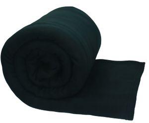 Betz Jumbo Fleecedecke Kuscheldecke in XXL,  220x240 cm, Farbe schwarz