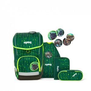 Ergobag 5-tlg. Schulrucksackset Lumi Edition Cubo Synthetik 40 x 25 x 20 cm (H/B/T) Kinder Schulranzen 19 Liter